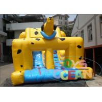 China Yellow Spotted Dog Child Commercial Inflatable Dry Slide Rentals PVC Material wholesale