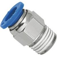 Wholesale Brass Nickel Planting Straight Pneumatic Push To Connect Fittings With NPT Threaded from china suppliers