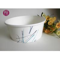 Quality 500ml 20oz PE Coated Food Grade Paper Salad Bowls With Plastic Cover / Single for sale