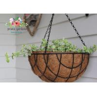 China Fashion Colorful Decorative Hanging Flower Pots Garden Ornamental wholesale