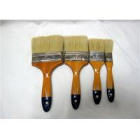 China Custom Color / Size White Bristle Flat Paint Brush For Wall Painting And Cleaning wholesale