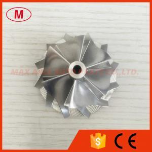 China RHF5 44.20/58.00mm 6+6 Blades high performance billet turbo compressor wheel for 4.0 TFSI wholesale