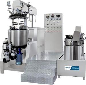 China Cosmetic / Detergent Making Machine  0 - 63 R / Min Vacuum Emulsifying Mixer wholesale