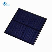 China 1W Epoxy Solar Panel For Small solar charge controller ZW-8484 Environmental Friendly 5V solar panel charger on sale