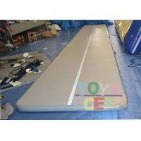 China White Outdoor Gymnastics Air Track Tumble Floor Waterproof For Adults wholesale