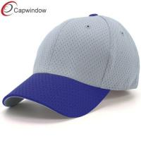 China Pure Polyester Mesh Fitted Baseball Caps Athletic Constructed For Adults wholesale