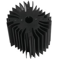 China Drilling Bronze Aluminum Notebook Cooler Heatsink Extrusion Profiles Industrial With CNC Machining wholesale
