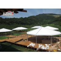 China Durable Aluminum Multi - sides Outdoor Party Tents For 300 - 500 People wholesale