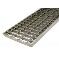 China Safety Stainless Steel Mesh Grate , Light Weight Open Steel Floor Grating With Clips on sale