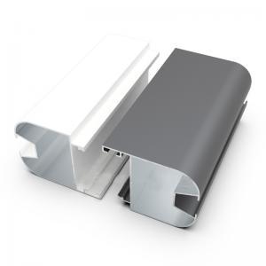 China 6063 Aluminum Extrusion Customized Silver Anodized Aluminium Door Frame Profiles For Senegal Market on sale