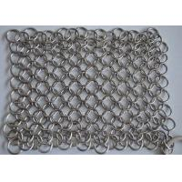 "China 8""x6"" 316L Stainless Steel Chainmail Cast Iron Cleaner For Cast Iron wholesale"