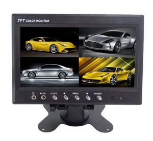 China 12V TFT Car LCD Monitor Split Screen ,  7 Inch Rearview Mirror Monitor wholesale