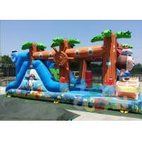 China Mini Ocean Inflatable Obstacle Course For Kids Party 0.55 PVC EN14960 CE wholesale