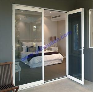 China Opening door with grey glass,double opening door,french doors,multi point lock opening doo wholesale