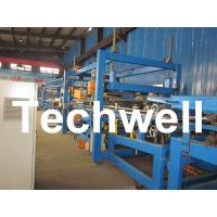 China 32KW, 50 - 250mm Rock Wool Insulated Sandwich Panel Line Machine For Prefabricated House wholesale