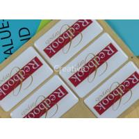 China Strong Adhesive Waterpoof Domed Decals Rectangle For Carpet Logo wholesale