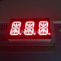 China Ultra Red Triple Digit Alphanumeric Led Display , 0.54 Inch 14 Segment Display wholesale
