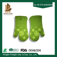China Silicone Coated Kitchen Oven Mitts , Customized Microwave Oven Gloves on sale
