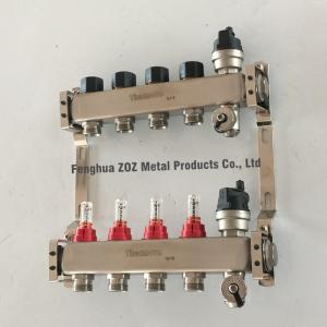Under Floor Central Heating Manifolds ,Stainless Steel Flow Meter Manifold