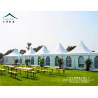 Buy cheap 5x5m White Exhibition Pagoda Tents With Sidewall High Pressed Aluminum Alloy from wholesalers