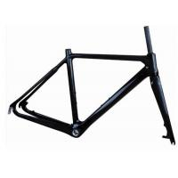 China Light Weight UD Finishing Carbon Cyclocross Bike Frames 700C Disc Brake T700 wholesale