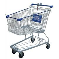 China Multi - Function Wire Shopping Carts USA Type Coin Locked Metal Shopping Basket on sale