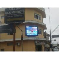 China Waterproof Outdoor LED Billboard 160mm × 160 mm , Full Color LED Display 7500 cd / ㎡ wholesale