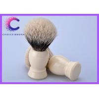 Quality Custom Finest 2 Band Shaving Brush with pure white ivory handle for sale