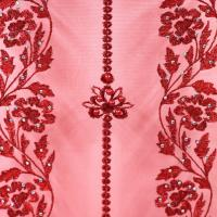 China Wholesale Nigerian French Lace Fabric Appliques red 3D Flower Wedding Lace on sale