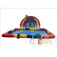 China Rainbow Inflatable Water Slide Square Swimming Pool For Amusement Park wholesale