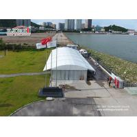 China 20m Width Aluminum Arcum Luxury Outside Wedding Tent With Glass Walls wholesale