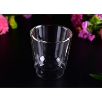 China Creative Transparent Pyrex Drinking Borosilicate Glass Cup Two Layers , 250ml Capacity on sale