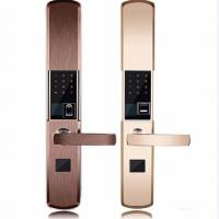 China Intelligent Zinc Alloy Fingerprint Door Lock With Super C Class Cylinder wholesale