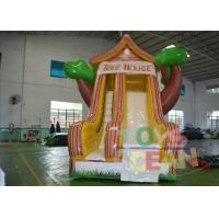 Quality Residential Backyard Rent Inflatable Slides Indoor With Tree Shape for sale