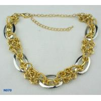 China Fashion Solid gold Chains Mixed Metal Necklace with Tin Alloy material wholesale