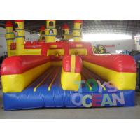 China Commercial Inflatable Interactive Games Dual 3 Lane Bungee Run Runway Bounce wholesale