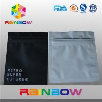 China Aluminum Foil Plastic Electronics Packaging Bag Three Side Seal Zipper Pouch on sale