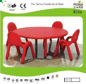 China Plastic Round Table (KQ10184C) wholesale