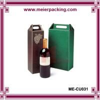 China Wine paper cardboard packaging box with paper handle ME-CU031 on sale