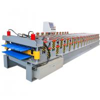 China Long-life Double Layer Glazed Tile Cold Roof Roll Forming Machine For Sale wholesale