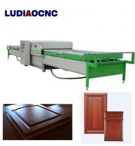 China Automatic two tables PVC film wood veneer vacuum membrane laminating press machine for MDF door cabinet wholesale