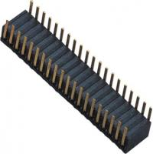 China Phosphor Bronze 1.27mm 2x20 Female Header Dual Side Insert 90°DIP H=3.45 ROHS wholesale