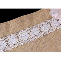 China Bulk DTM Double Waves Edge Chemical Guipure Lace Trim With Scalloped Lace Borders wholesale