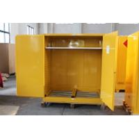 China 1.0mm galvanized Steel Horizontal Inflammable Flammable Storage Cabinet 2 Manual Close Doors Chemical Liquid wholesale