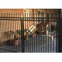 China Powder Coated Automatic Driveway Gates Rot Proof For Home / Countyard wholesale