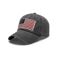 China Trucker Curved Brim Six Panel Dad Cap Embroidered USA Logo wholesale