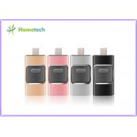 China Mobile Phone USB Flash Drive For IOS / Android , I- Easy Drive With Aluminum Alloy Material wholesale