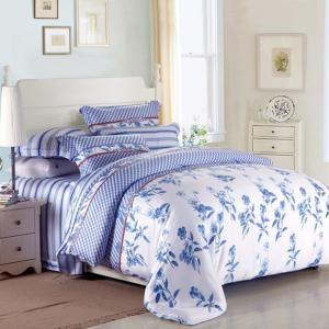 China Purple Colorem Broidered Flower Home Bedding Sets Tencel Duvet Cover / Sheet Set wholesale