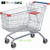 China 212 Liter Metal Supermarket Grocery Shopping Cart With Wheels Anti Theft Structure wholesale