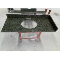 "China 22"" X 37"" Brazilian Integrated Vanity Tops 2 CM Thickness Light Green Color wholesale"